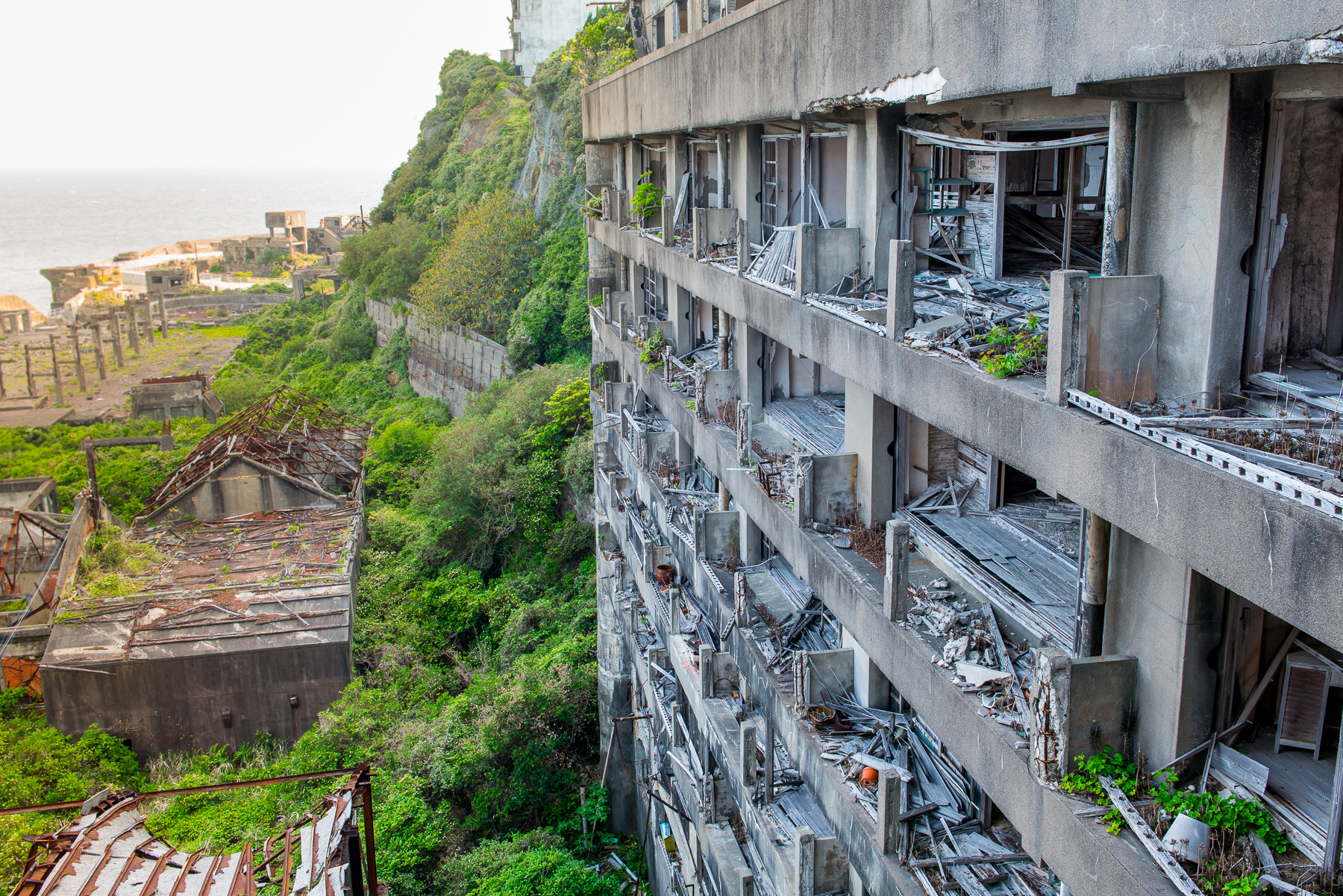 Gunkanjima, una isla-ciudad fantasma en Japón