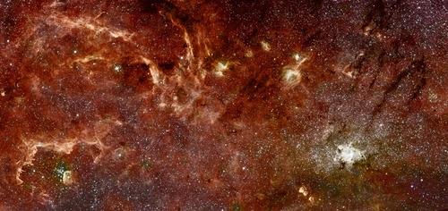 El centro de la Vía Láctea en Infrarrojo
