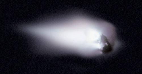 El núcleo del cometa Halley fotografiado por la sonda Giotto