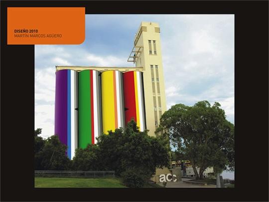 Nueva pintura exterior de los Silos Davis de Rosario 2010