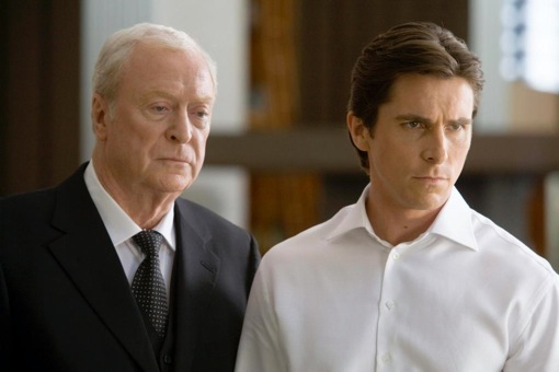 Michael Caine y Christian Bale