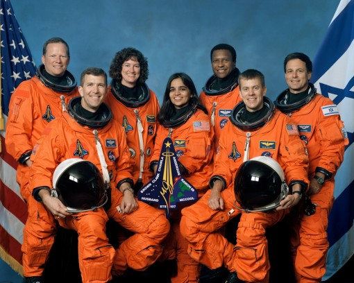 STS-107 Columbia Space Shuttle Crew