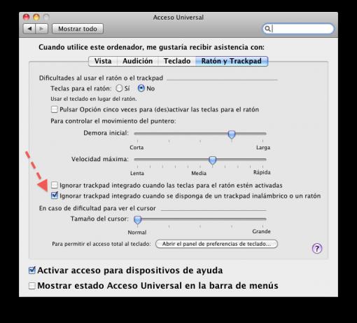 Cómo deshabilitar el trackpad de la MacBook