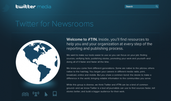 twitter for newsroom