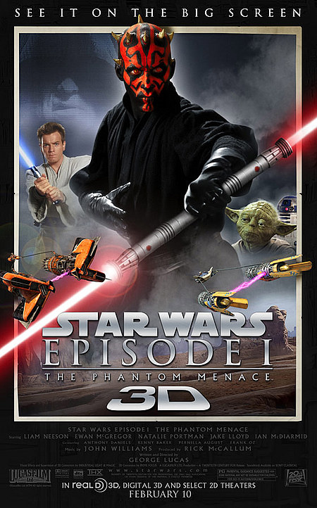 star wars 3D poster the phantom menace