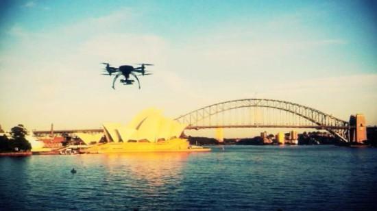 drones over sydney