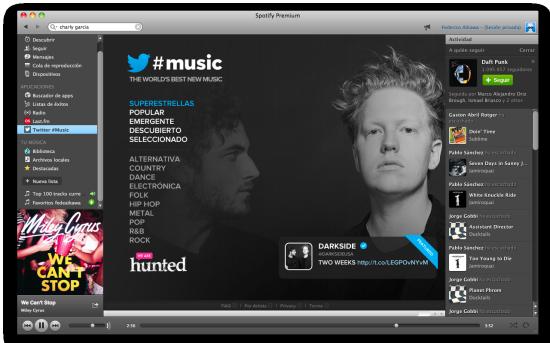 Twitter Music in Spotify