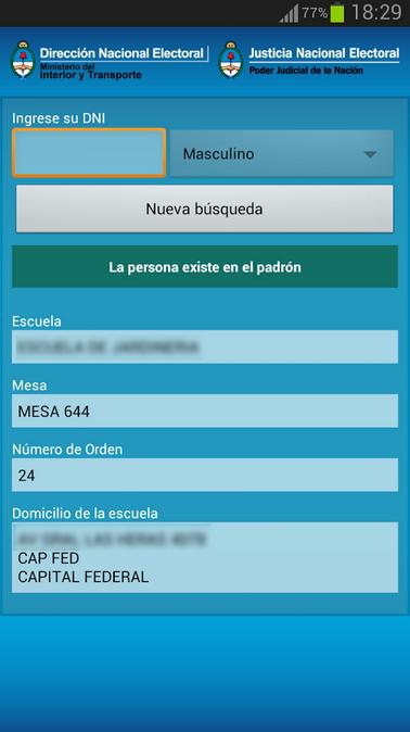 App Padron 2013