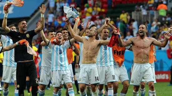 Festejos selección Argentina en cuartos de final