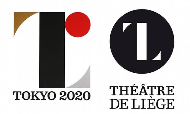 Logo oficial de Tokyo 2020 y el del Theatre de Liege