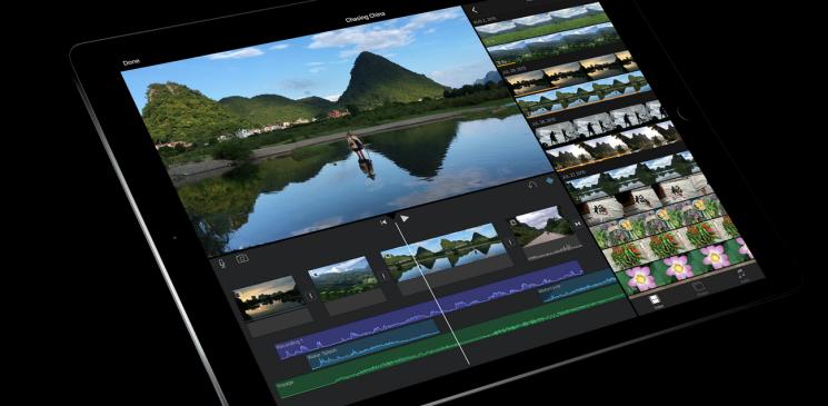 iPad Pro iMovie