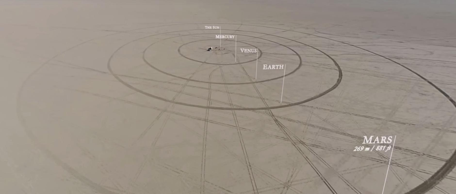 Una recreación a escala del Sistema Solar en pleno desierto