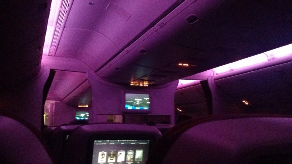 Qatar Airways durante aterrizaje