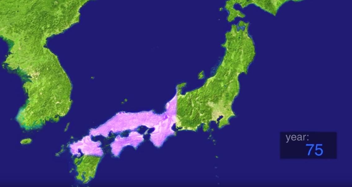 Toda la historia de Japón en 9 (lisérgicos) minutos