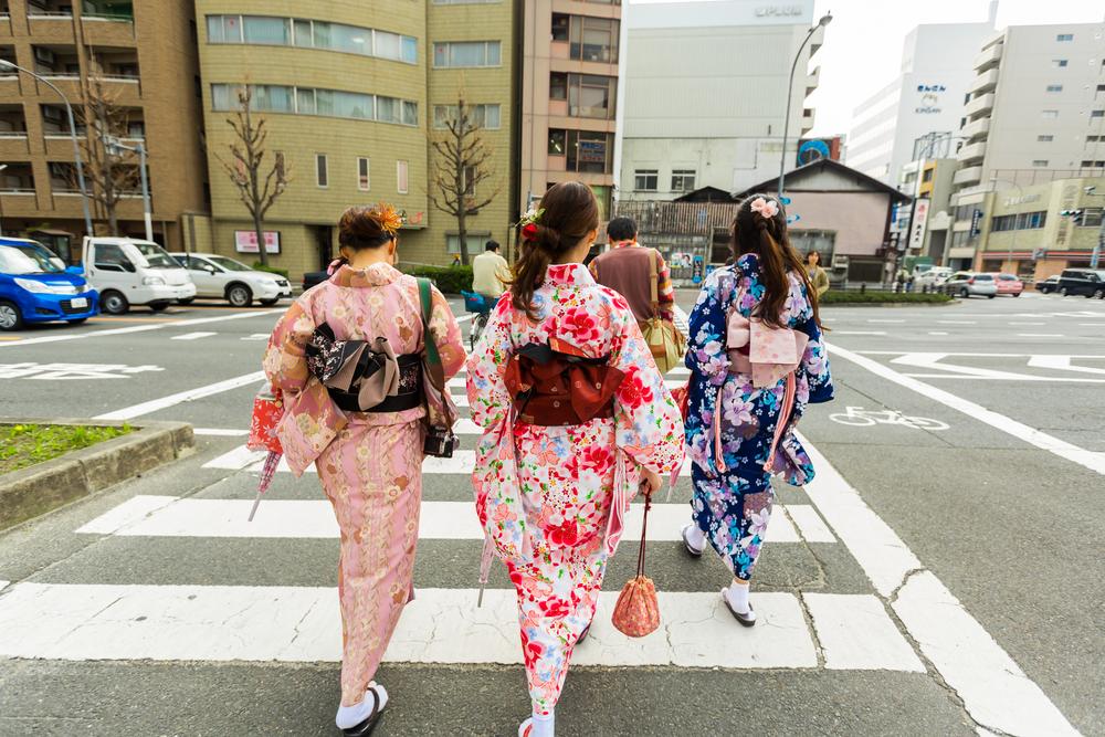 Guía visual de los kimonos japoneses