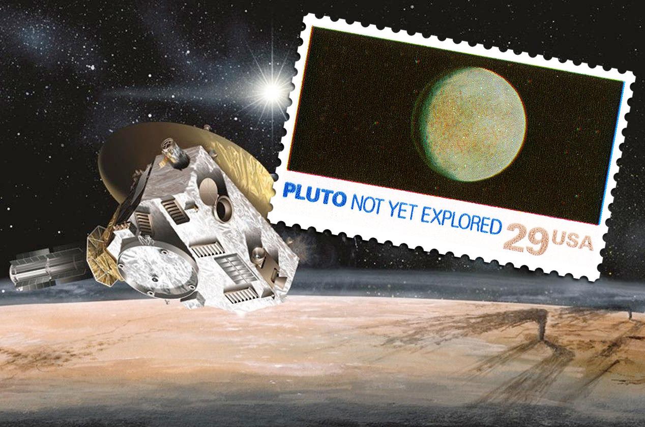 Plutón ya tiene su estampilla (con foto oficial)