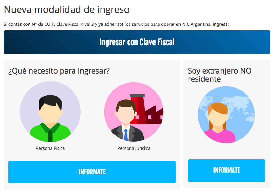 Nic Argentina ya pide Clave Fiscal AFIP para registrar dominios .com.ar