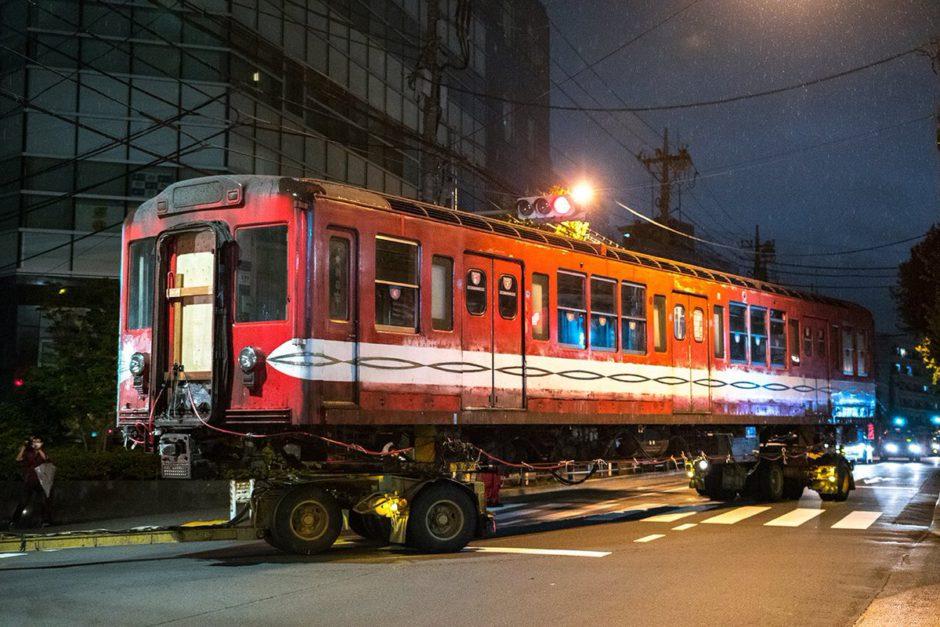 Los tres vagones llegaron al puerto de Yokohama después de 20 años